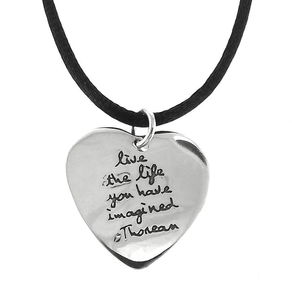 Sterling Silver Live the Life You Have Imagined Pendant