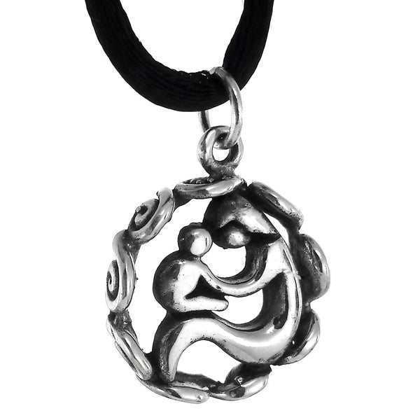 Sterling Silver Mother and Child Pendant
