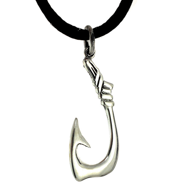 Sterling Silver Fish Hook Pendant