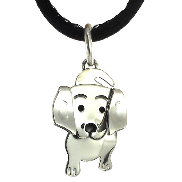 Sterling Silver Dog Pendant