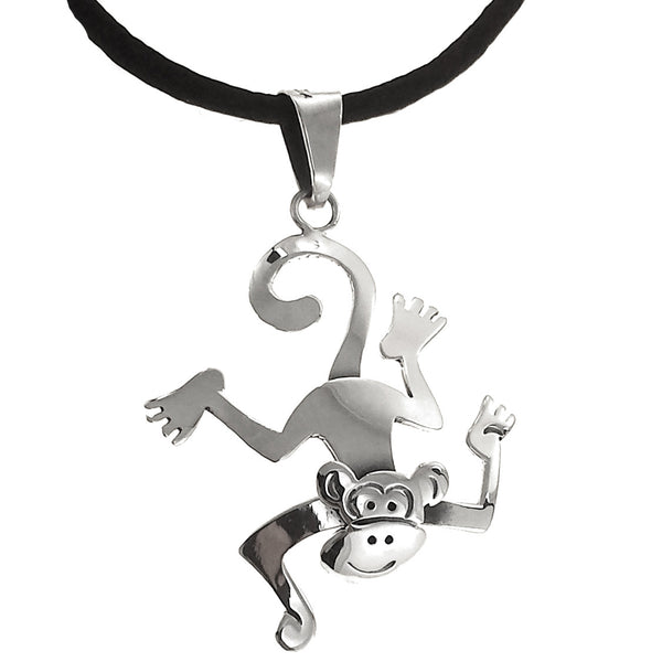 Sterling Silver Monkey Pendant