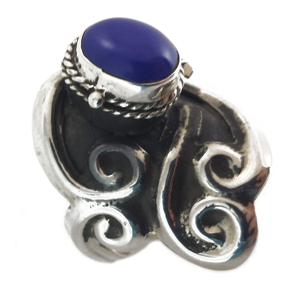 Sterling Silver Poison Ring Adjustable