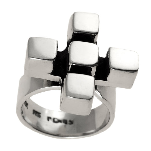 Sterling Silver Cross Ring Adjustable