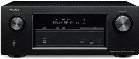 Denon AVRX2100W 7.2-Channel Receiver, 95 Watts, Bluetooth, Wifi, HDMI 2.0