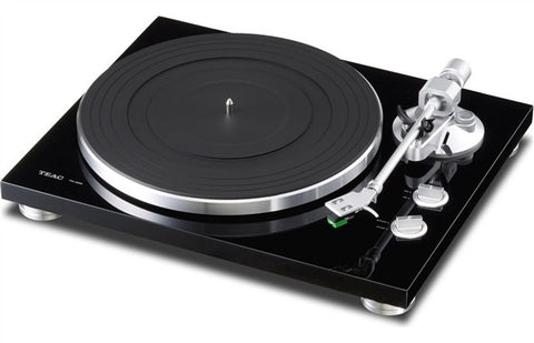 TEAC TN-300 Turntable w/pre-installed cartridge, built-in phono (switchable), and USB output (black)