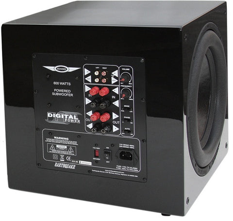 "Earthquake MiniMe P12  12"" Front-Firing Powered Subwoofer (Piano Black)"