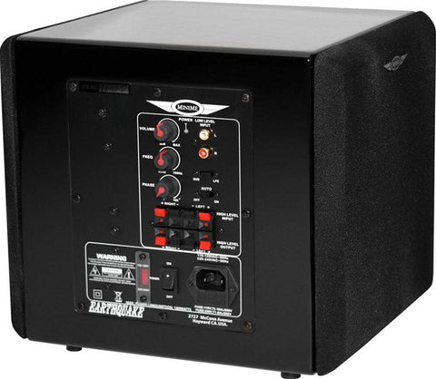 "Earthquake MiniMe P8  8"" Side-Firing Powered Subwoofer W/Passive Radiator (Piano Black or White)"