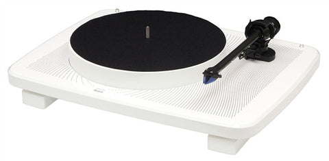 Music Hall IKURA Audiophile turntable w/cartridge (gloss white) NOW WITH FREE CREATIVE LABS AURVANA HEADPHONES. A $299 VALUE!