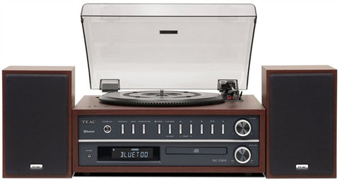 TEAC MCD800 Turntable Stereo System with CD/ Bluetooth - (Cherry )