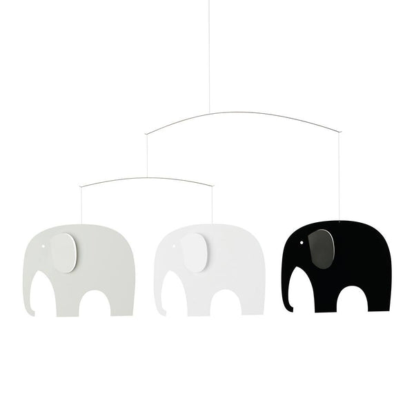 Elephant Party Mobile_Black/White