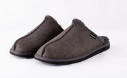 Sheepskin Slippers Men - Hugo in Asphalt Grey size 43 - UK 8/9