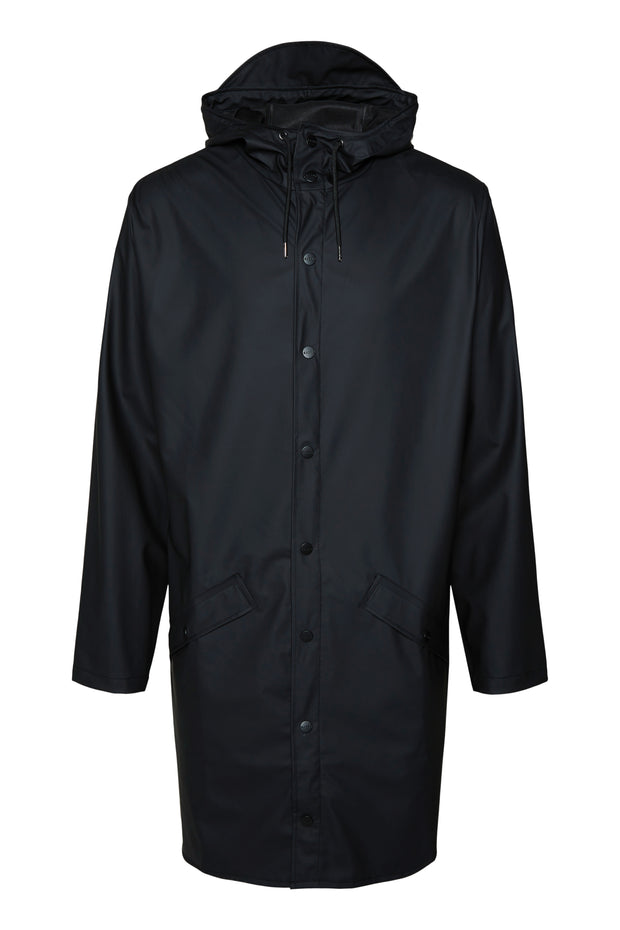 Rains Unisex Long Jacket in Black