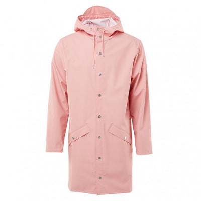 Rains Unisex Long Jacket in Coral
