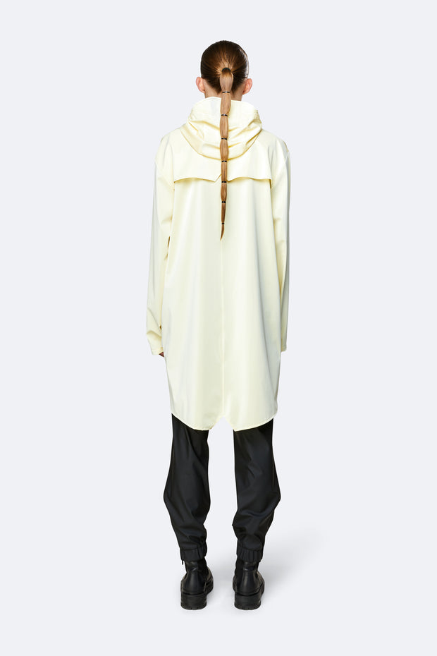 Rains Unisex Long Jacket in Pearl