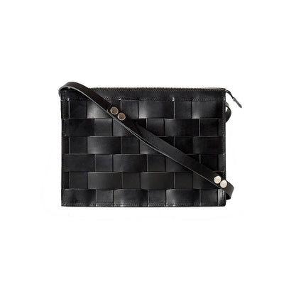 Näver Small Shoulder Bag in Leather, Black - Blabar