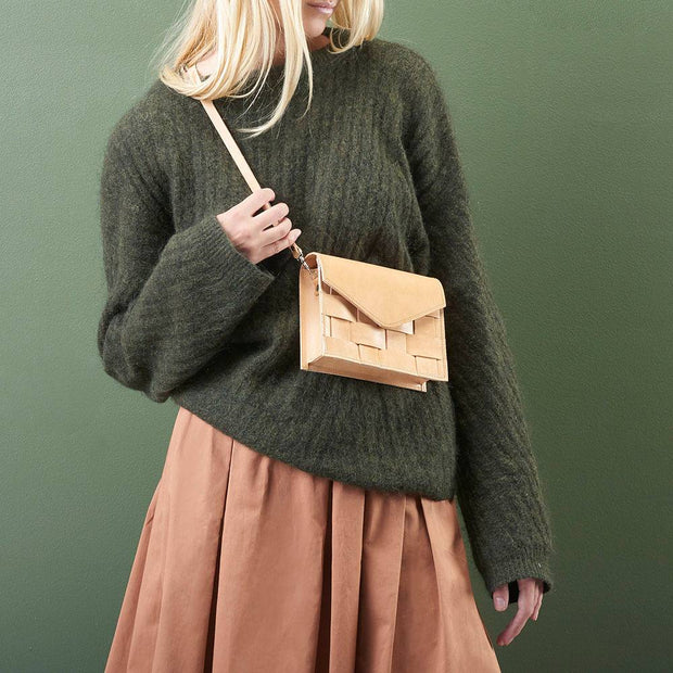 Näver Mini Shoulder Bag in Leather, Nature - Blabar
