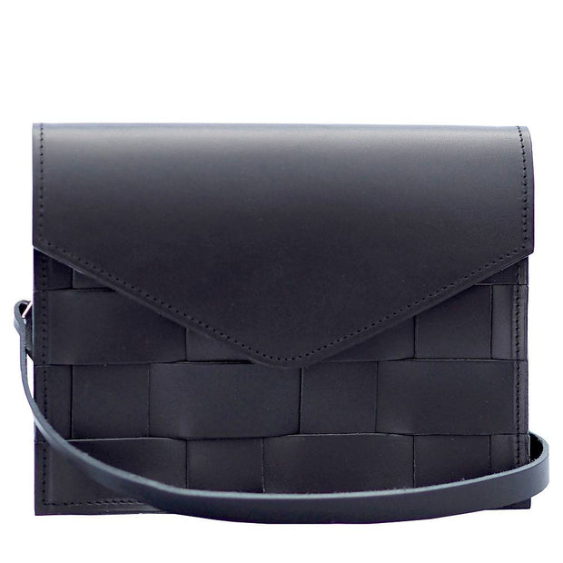 Näver Mini Shoulder Bag in Leather, Black