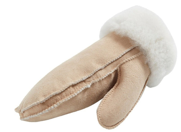 Mittens Furuvik in Sheepskin, Light beige - Blabar