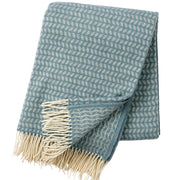 Leaf Woven Throw, Lead Grey Merino & Lambswool - Blabar