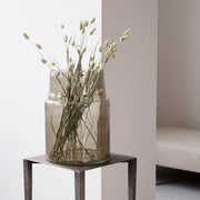 Vase in Glass, Airy in Grey 35cm