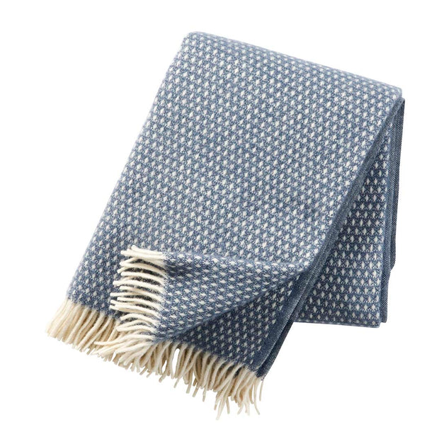 Knut Wool Throw, Smokey Blue - Blabar