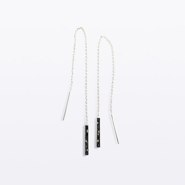 Oblong Chain Earring_Silver