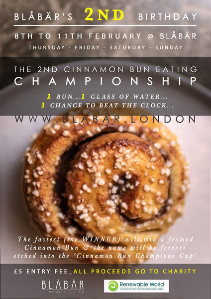 8TH - 11TH FEBRUARY, CINNAMON BUN EATING CHAMPIONSHIP FOR CHARITY - Blabar