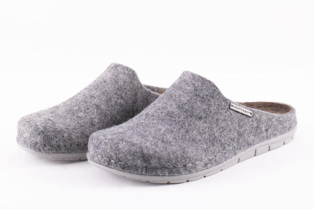 Wool Slippers Women - Annsofie in Grey size 38 - UK 5
