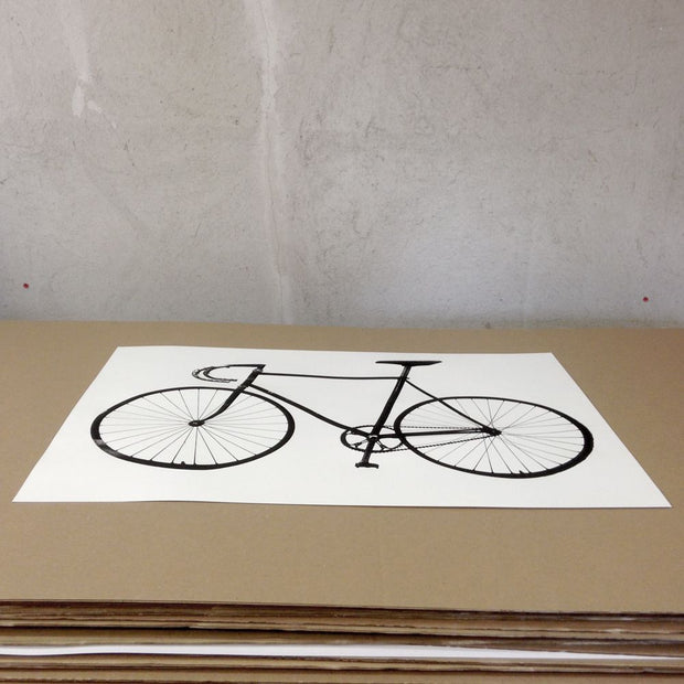 Screenprint Ride (bike) A3 - Blabar