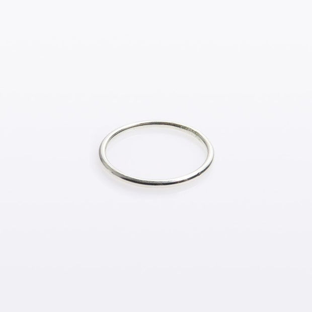 Plain Stacking Ring_Silver - Blabar
