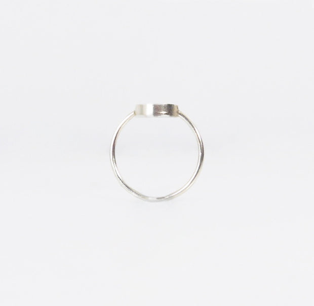 Diamond Circle Ring Silver - Blabar