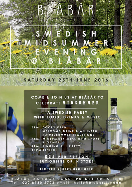 Blåbär Midsummer EVENT ticket 25th June