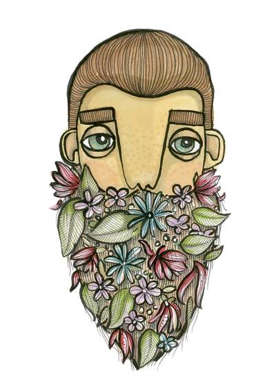Bahkadisch card -  Flower beard - Blabar