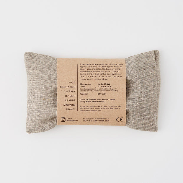 Linen Wheat Bag - Eye Pillow Creatures Navy - Blabar