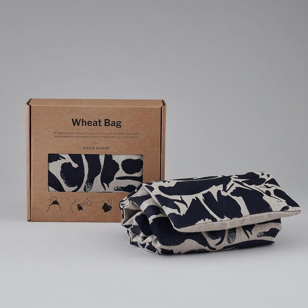 Linen Wheat Bag - Large in Creatures Navy