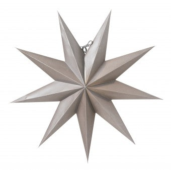Boris Christmas Star Dark Grey 50cm - Blabar