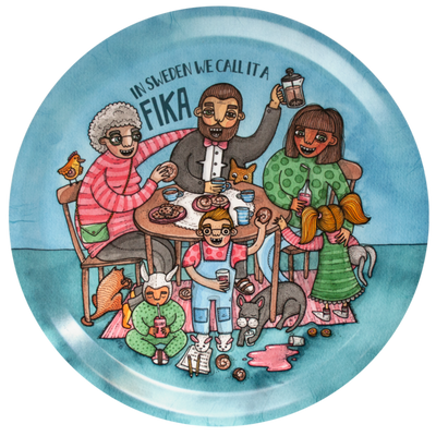 Round Tray -  Fikabordet (Fika Table) - Blabar