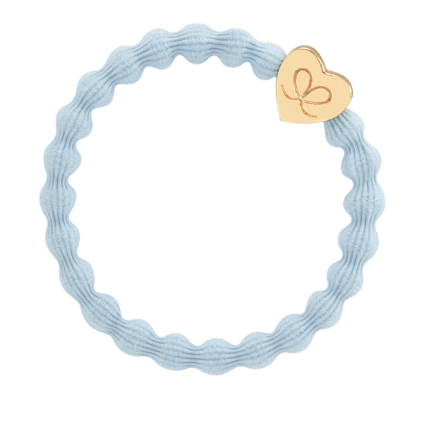 Bangle Band Gold Heart ·sky blue - Blabar