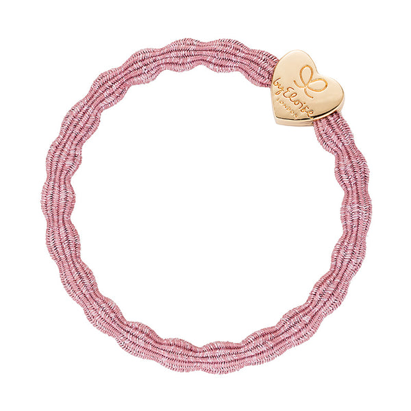 Bangle Band Metallic Gold Heart · Rose Pink - Blabar