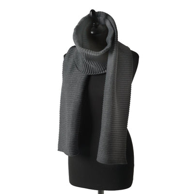 Pleece Scarf Long in Dark Grey - Blabar