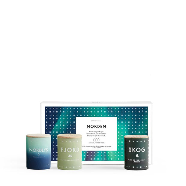 Scented Candle Norden Mini Gift Pack x3 - Blabar