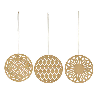 Brass Ornaments Stroke, set of 3 - Blabar