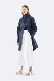 Rains Unisex Long Jacket in Blue