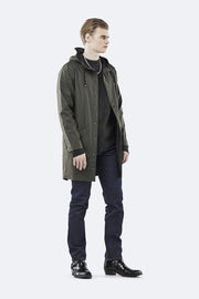 Rains Unisex Long Jacket in Green