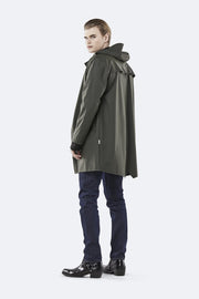 Rains Unisex Long Jacket in Green - Blabar