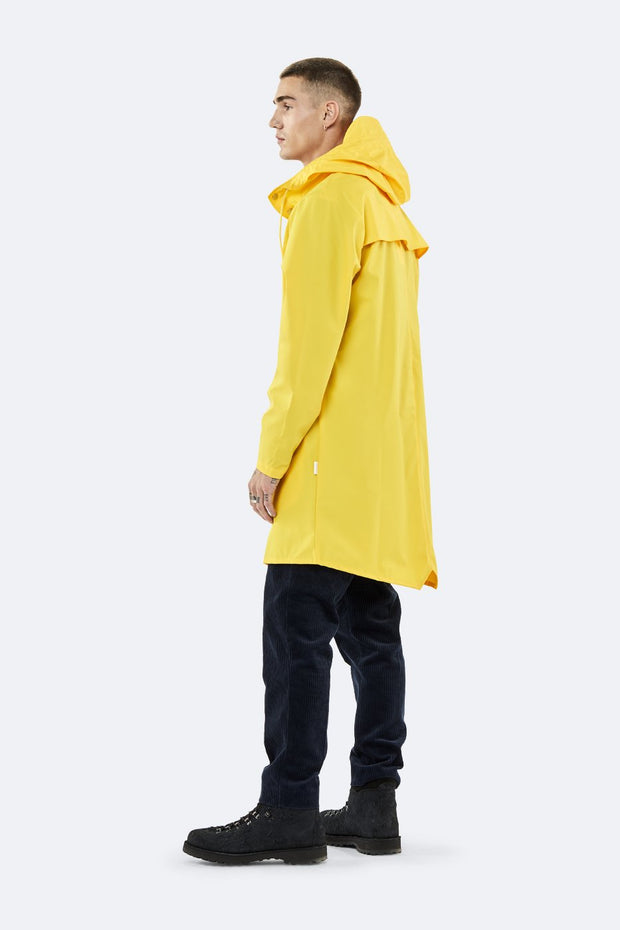 Rains Unisex Long Jacket in Yellow