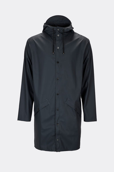 Rains Unisex Long Jacket in Blue - Blabar