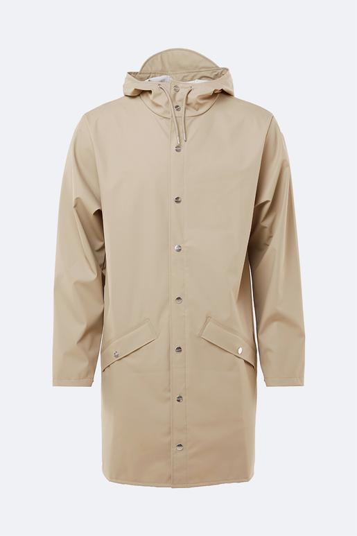 Rains Unisex Long Jacket in Beige