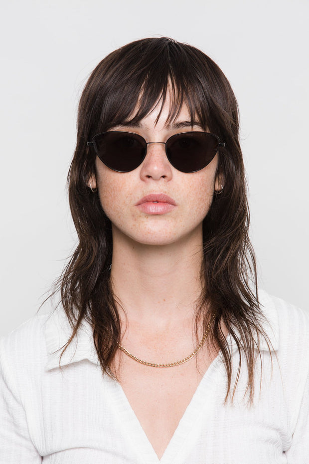 Luna Black Unisex Sunglasses