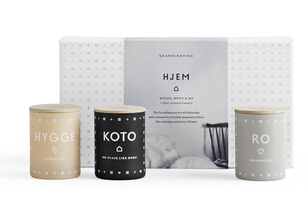 Scented Candle Hjem Home Mini Gift Pack x3
